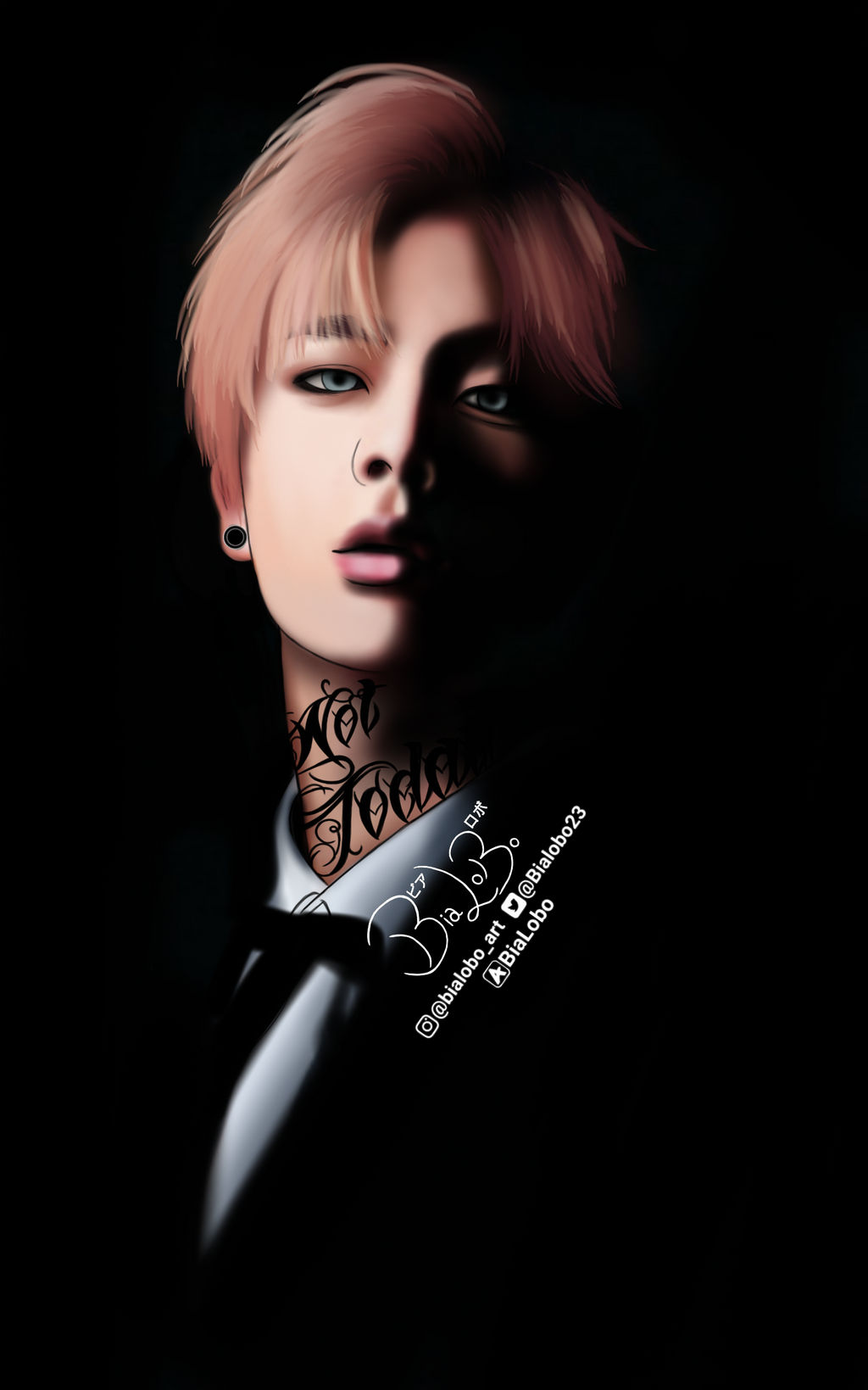 Jin Tattoo Bts Fanart Bybialobo By Bialobo On Deviantart