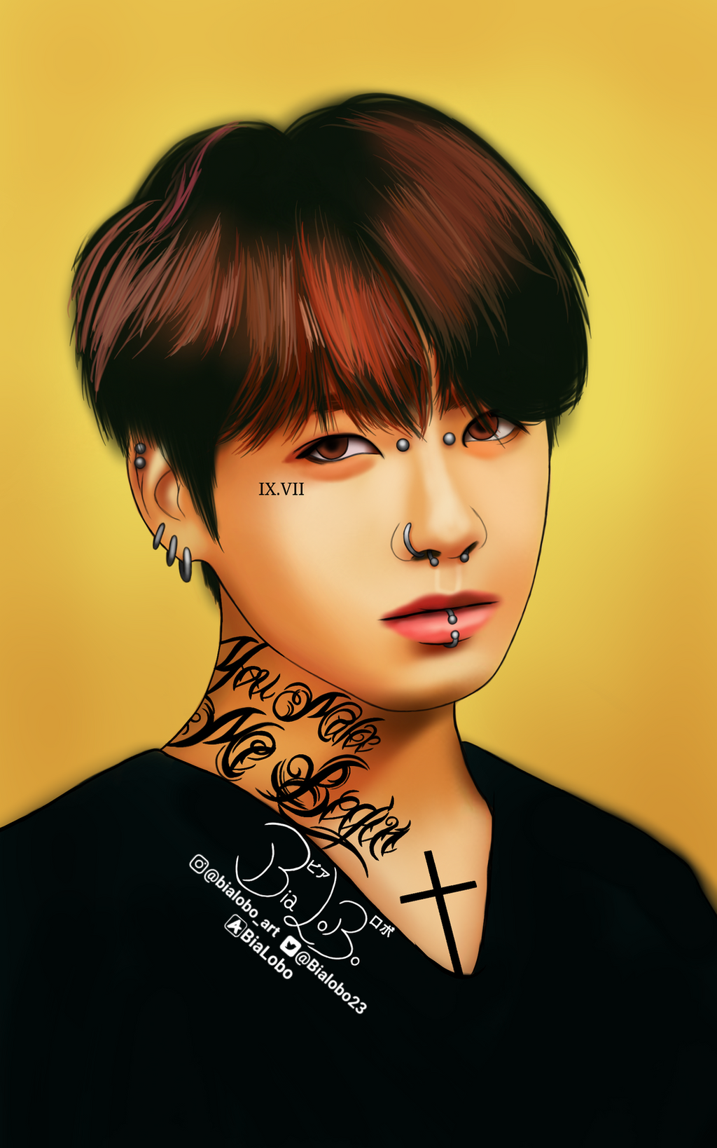 Jungkook Tattoo Shop: JungKook (Tattoo) BTS Fanart ByBiaLobo By BiaLobo On