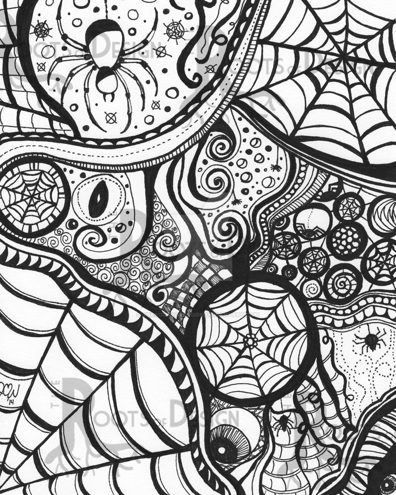 Halloween Spider Web Coloring Pages. 15 Best Adobe Photoshop ...