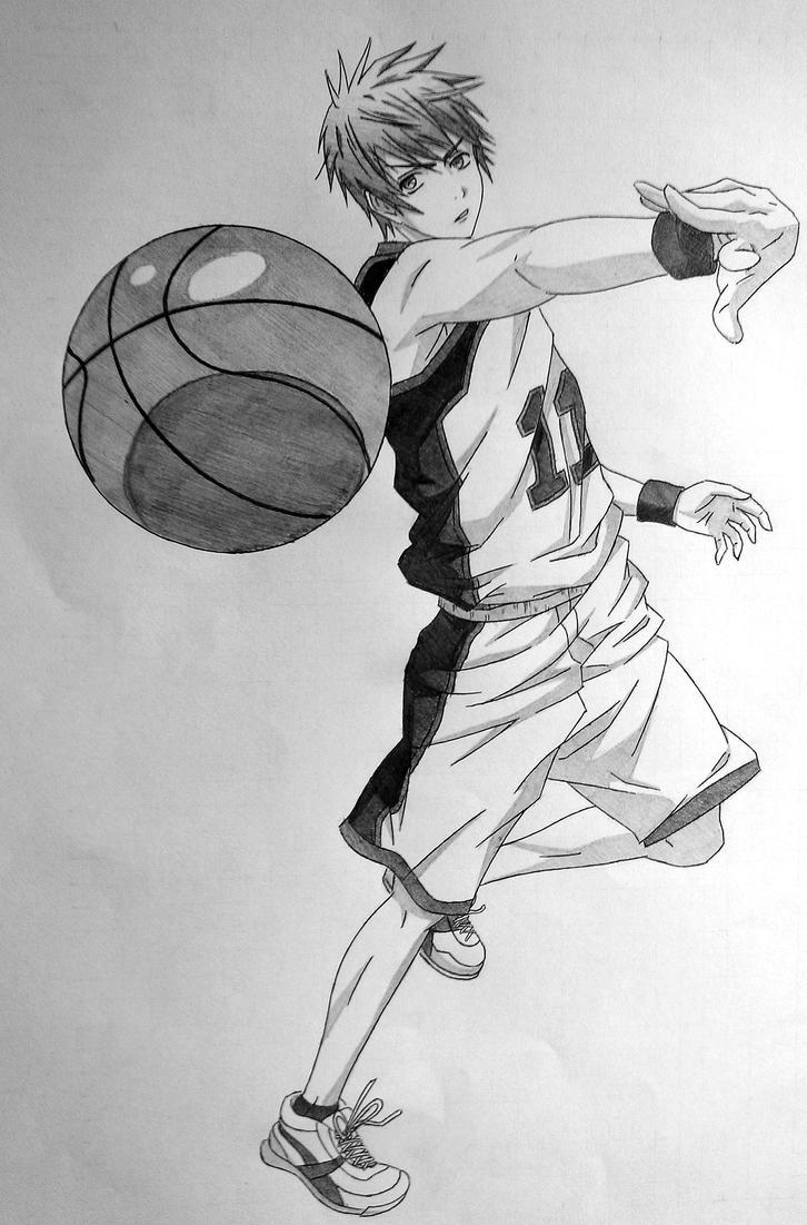 Баскетбол куроко рисунок карандашом