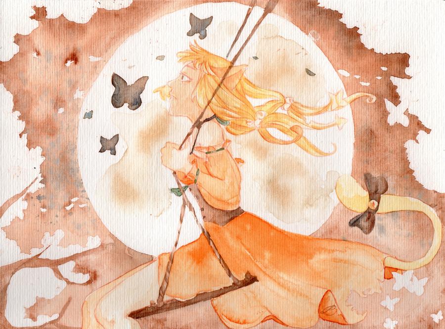 .: Elisa .. Watercolor :. by Snouffy