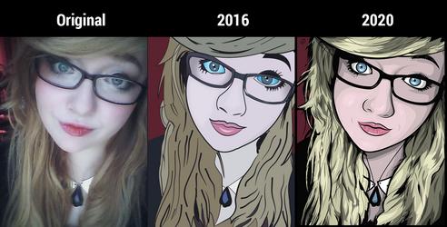 Adobe Illustrator artwork progress 2016 vs 2020