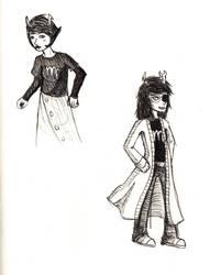 Kanaya and Vriska Doodles by Kiikeluren