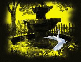 Summer Bird Bath by Star-Grace
