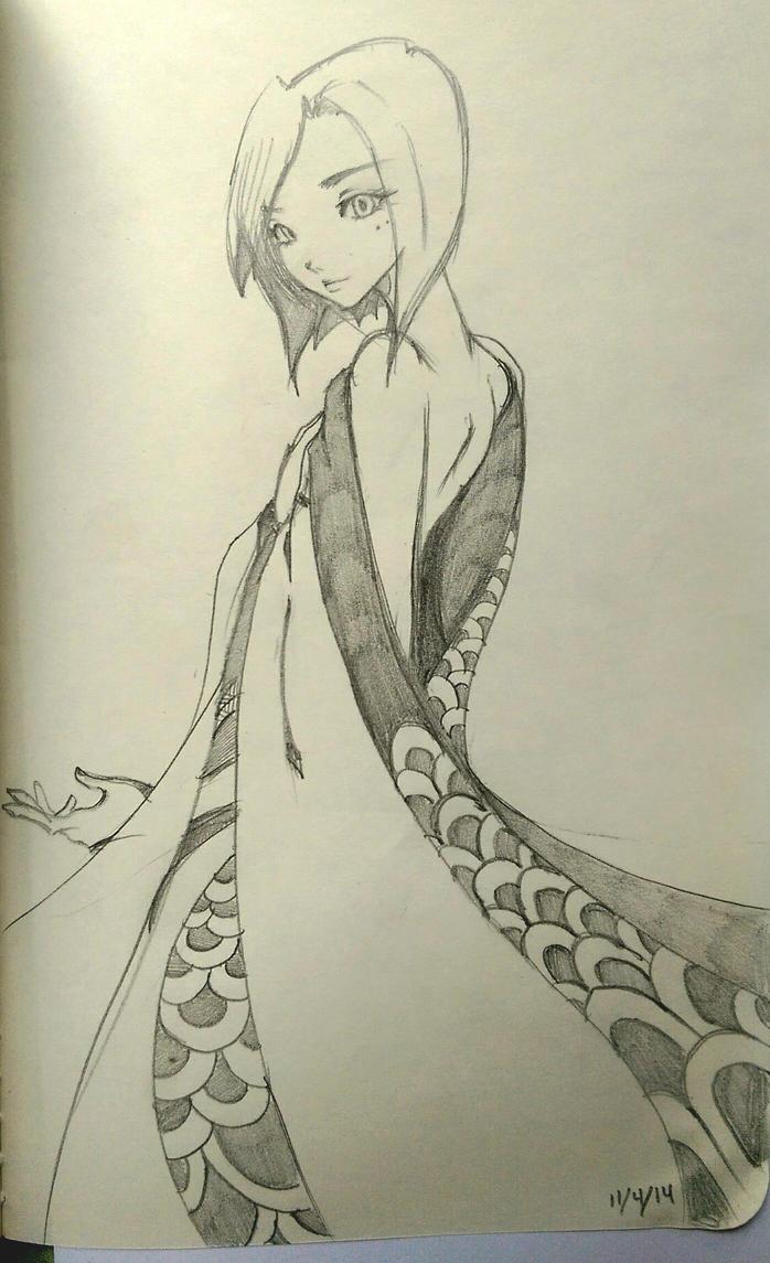 kimodo Dragon girl by Akemi14
