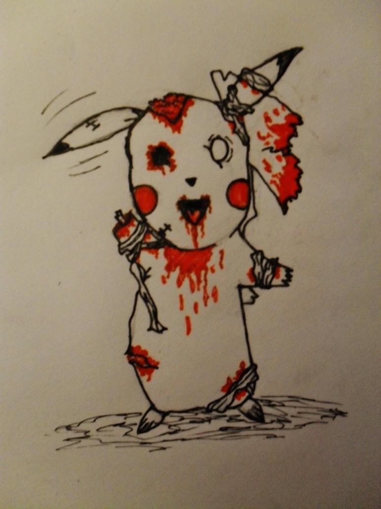 zombie pikachu by badmickis on DeviantArt