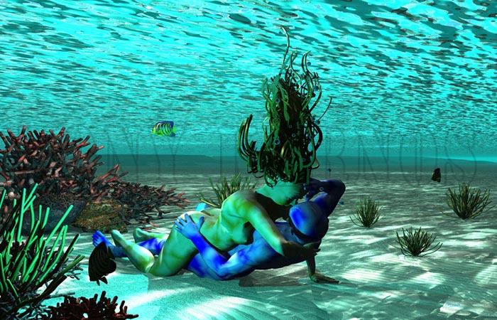 tableau Les Aquaphrodites by Tony-Kernos