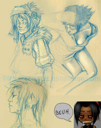 last week sketches by youffy