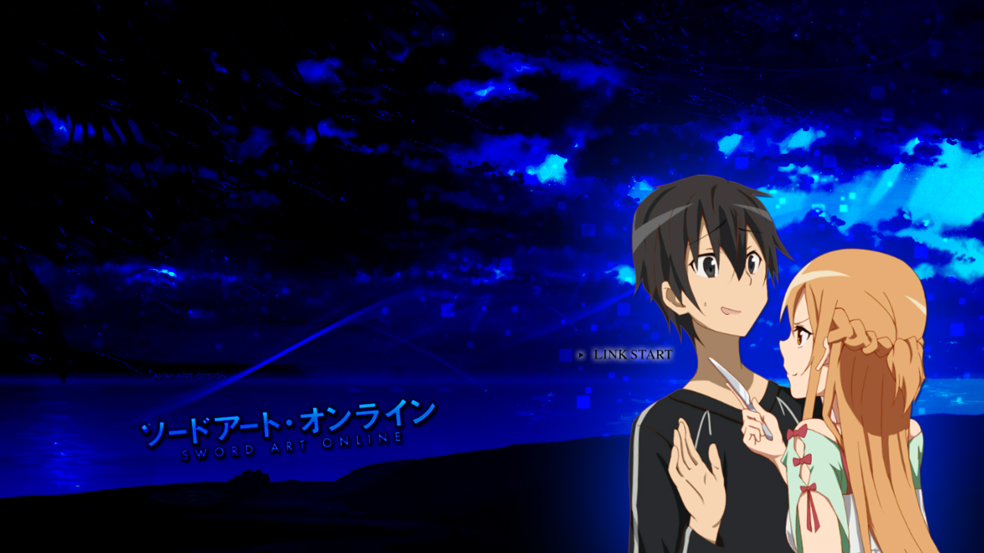 Sword Art Online - Kirito x Asuna by Akw-Art-Design