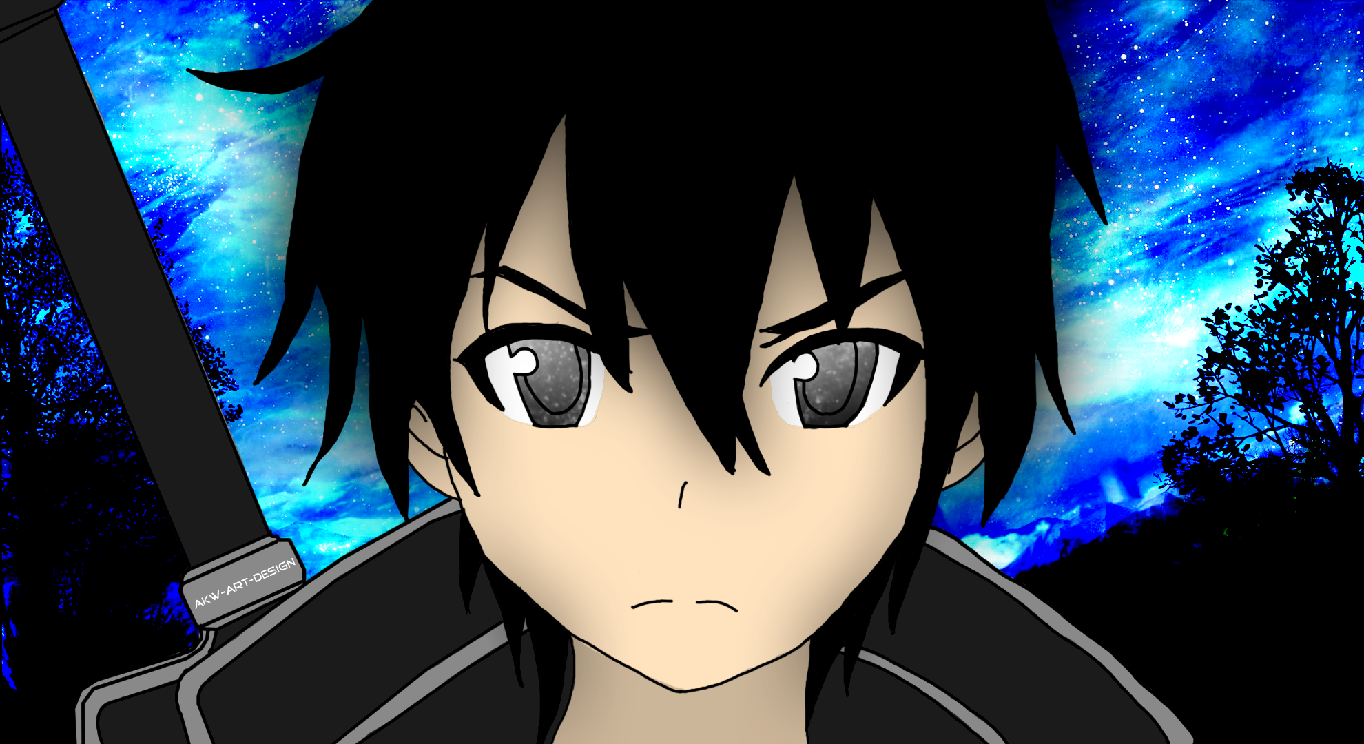 Sword Art Online - Kirito colored by Akw-Art-Design