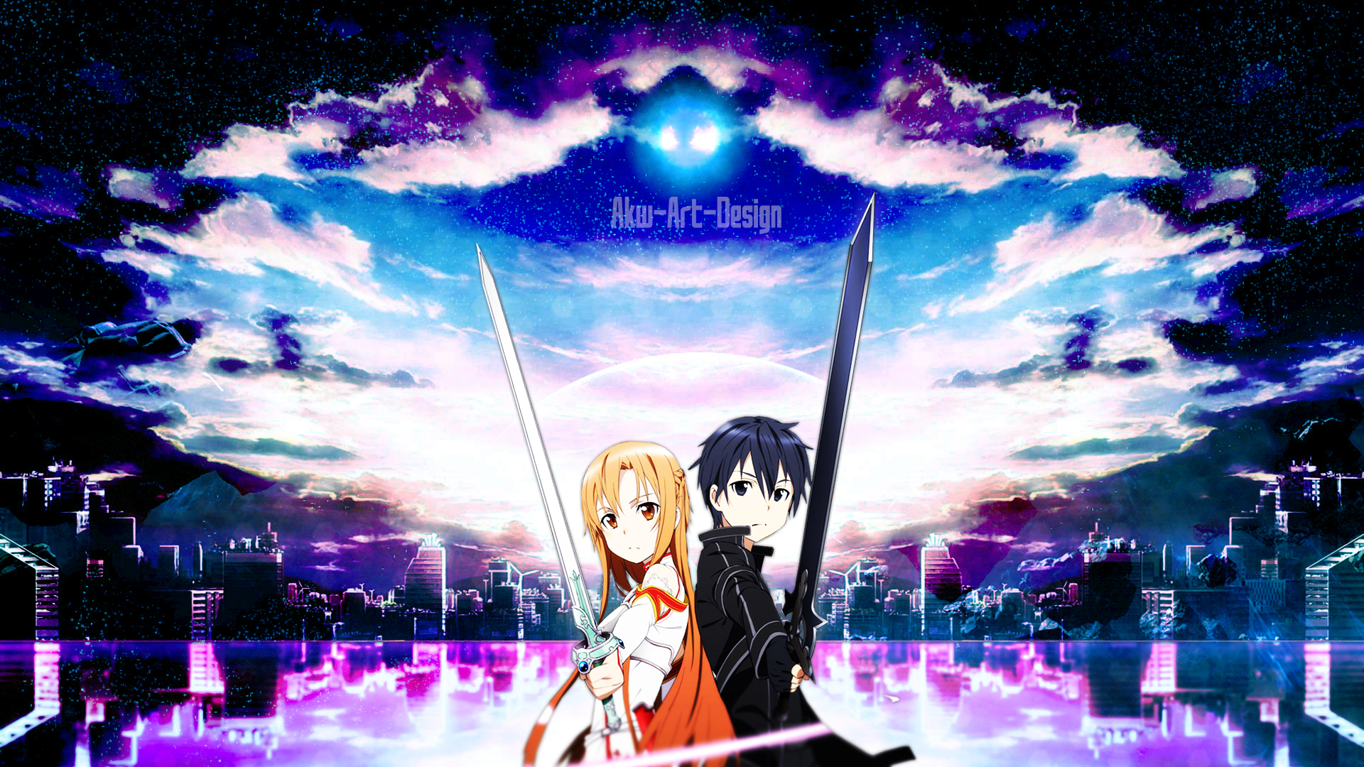 Sword Art Online Asuna X Kirito By Akw Design