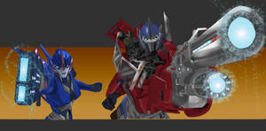 Optimus Prime and RC! Roll Out!