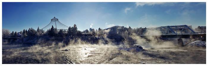 Spokane Winter 2010 Panorama
