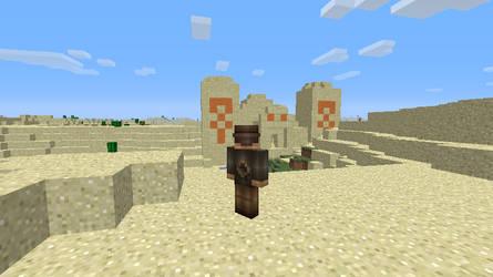 Minecraft desert temple by salomandr