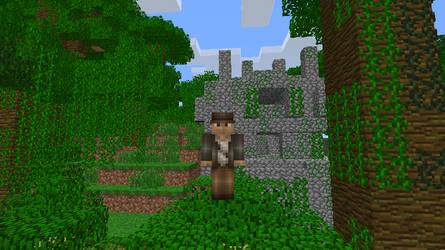 Minecraft jungle temple by salomandr