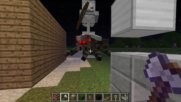 Minecraft Spider Jockey by salomandr