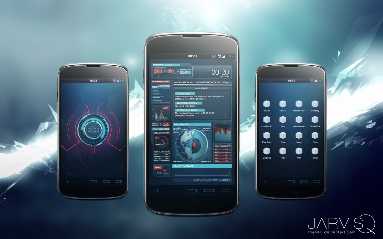 Ironman JARVISQ Theme for Android by theNBT on DeviantArt
