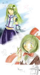 Touhou Doodles by LohiAxel