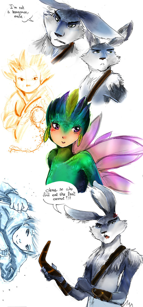 Rise of the guardians doodles by LohiAxel