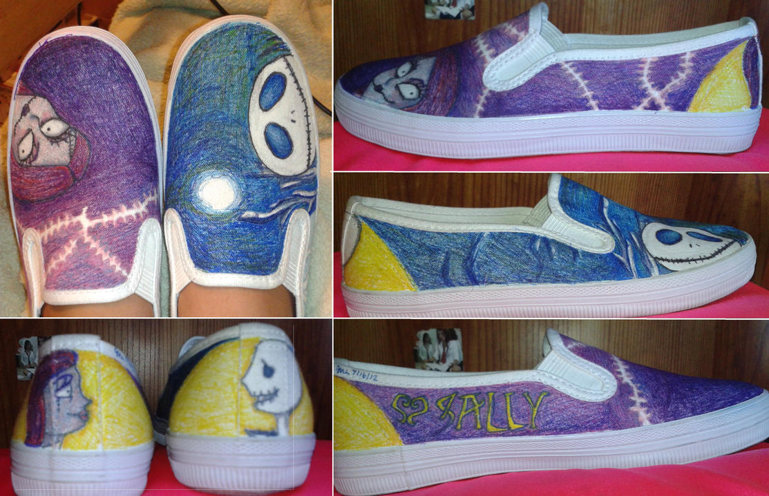 The Nightmare Before Christmas Shoes by TheTrueXIVMember on DeviantArt