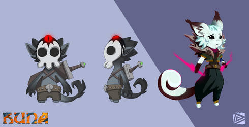 RUNA Skull Goblin Concept by Weelow