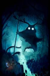Wandering the deep woods by Weelow