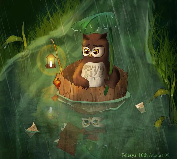 Mr Owl by Felesya