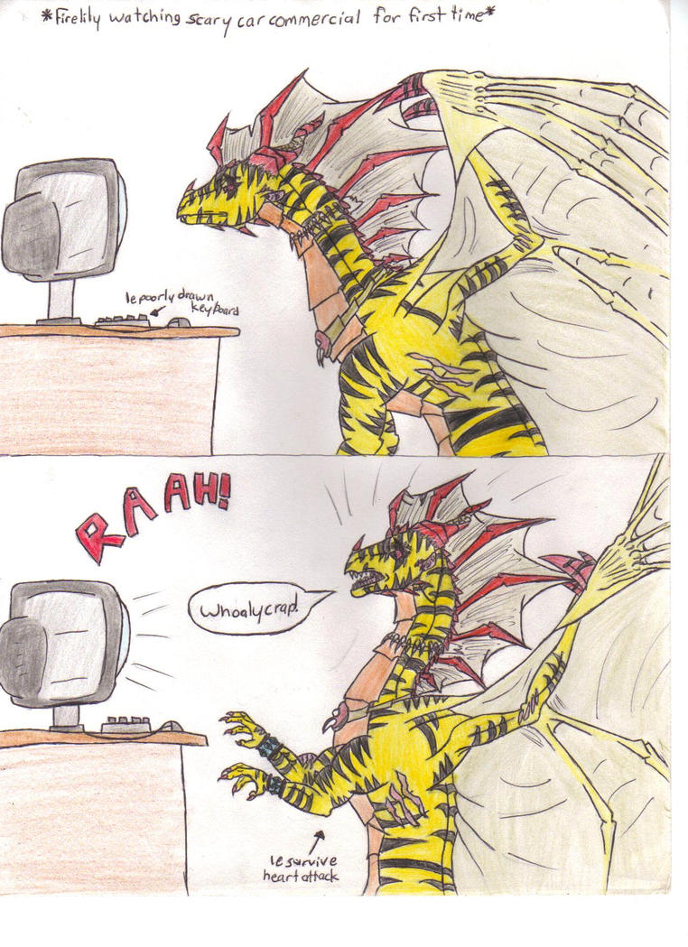 Firelily Comic Reaction To Scary Car Commercial By Ignislillium On
