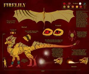 Firelily Dragon Ref V.3 by IgnisLillium