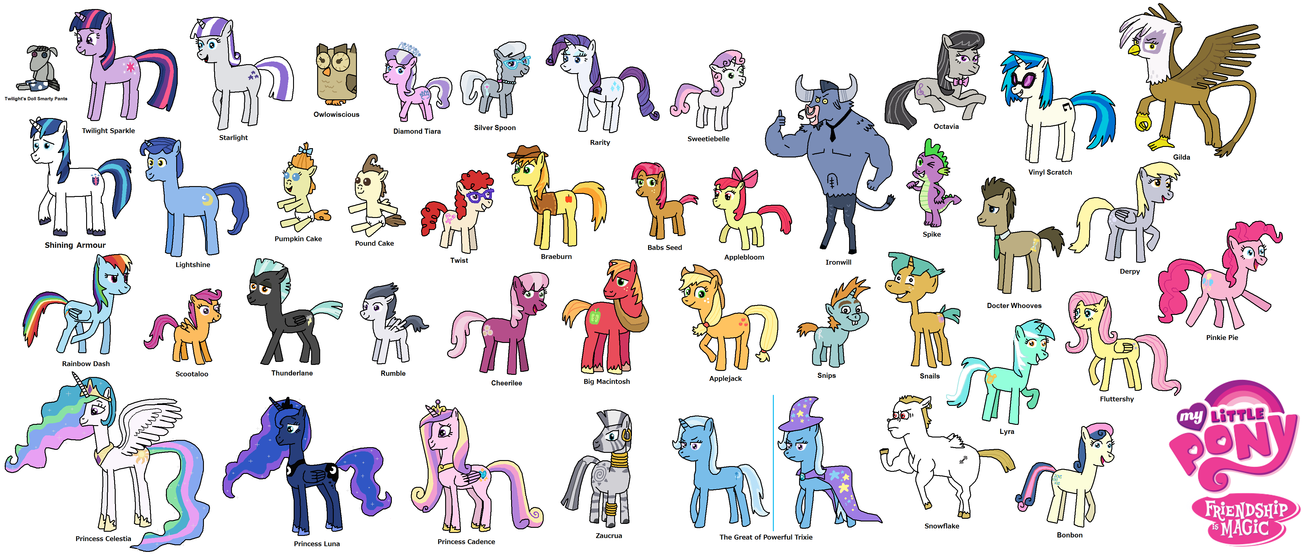 My Little Pony Friendship is Magic All Characters by ...