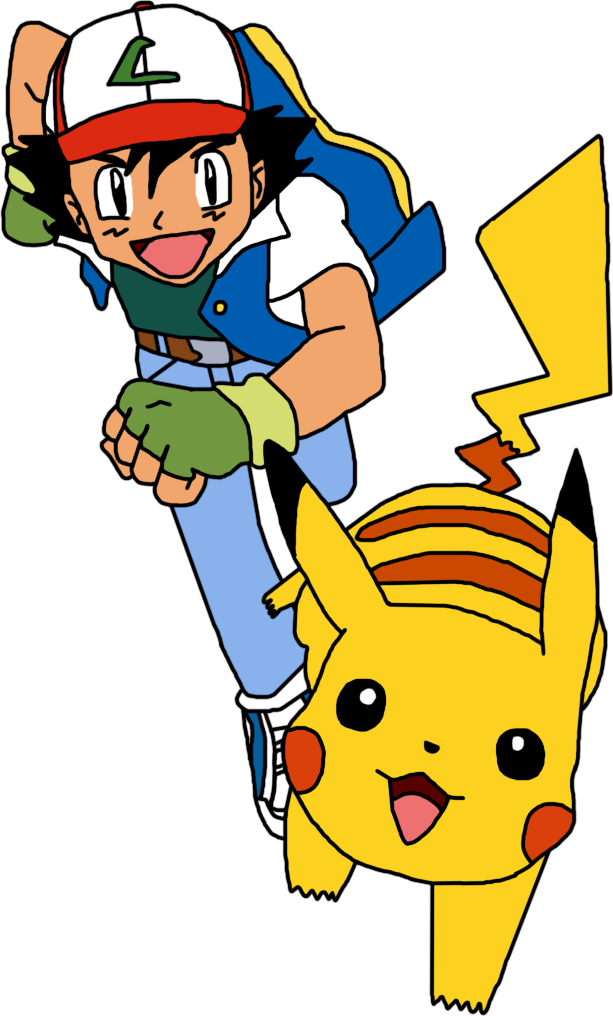 Ash and Pikachu by Mighty355 on DeviantArt