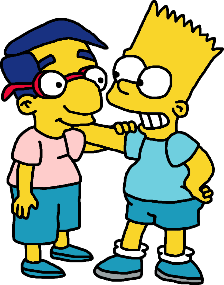 Bart and milhouse best pals ever by mighty355 on deviantart - Bart et milhouse ...