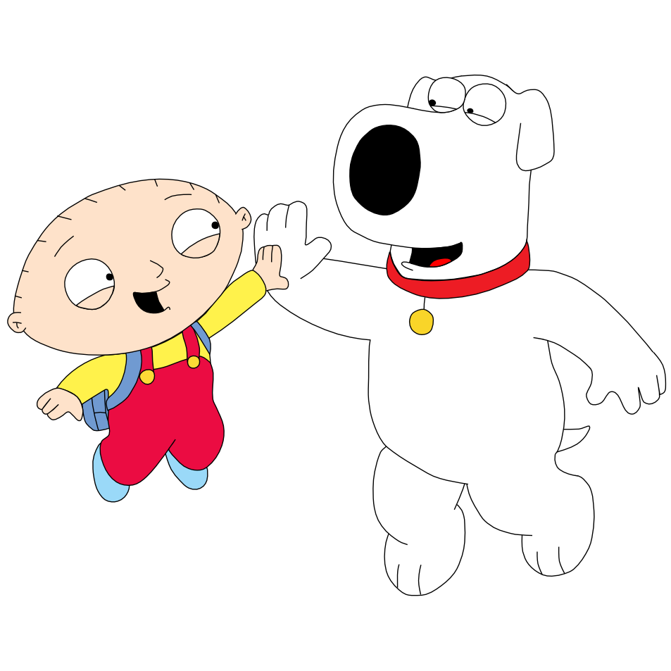 stewie and brian hi five by mighty355 on deviantart