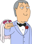 Adam West with a Wedding Hand by Mighty355