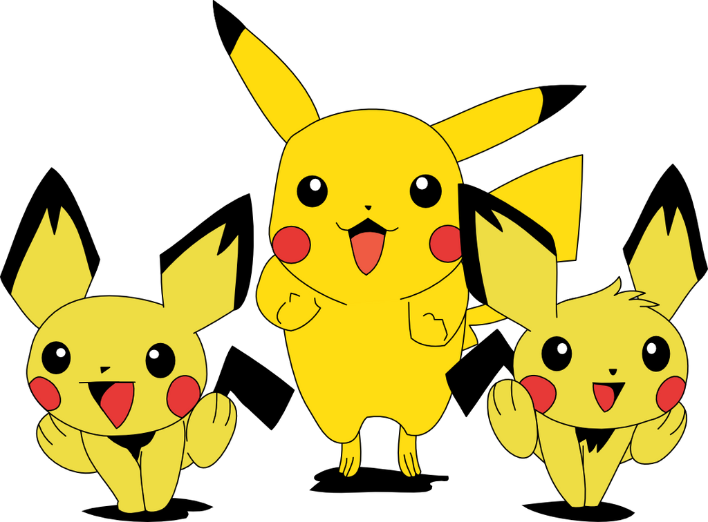 how to draw pichu and pikachu