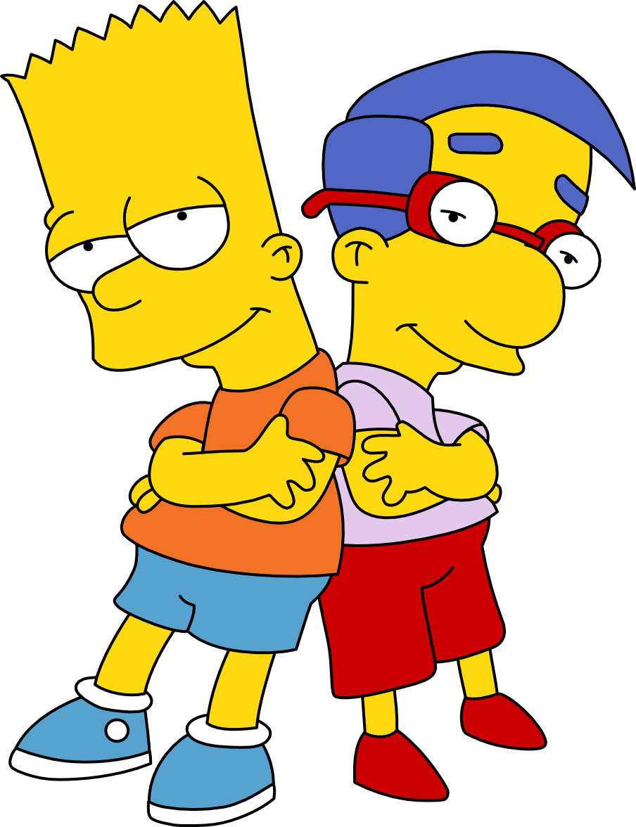 Cool dude pals by mighty355 on deviantart - Bart et milhouse ...