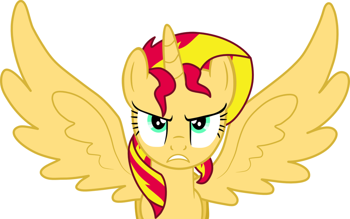 Alicorn Sunset Shimmer Furious by Mighty355