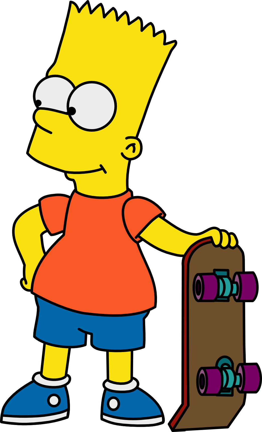 Bart with his Skateboard by Mighty355 on DeviantArt