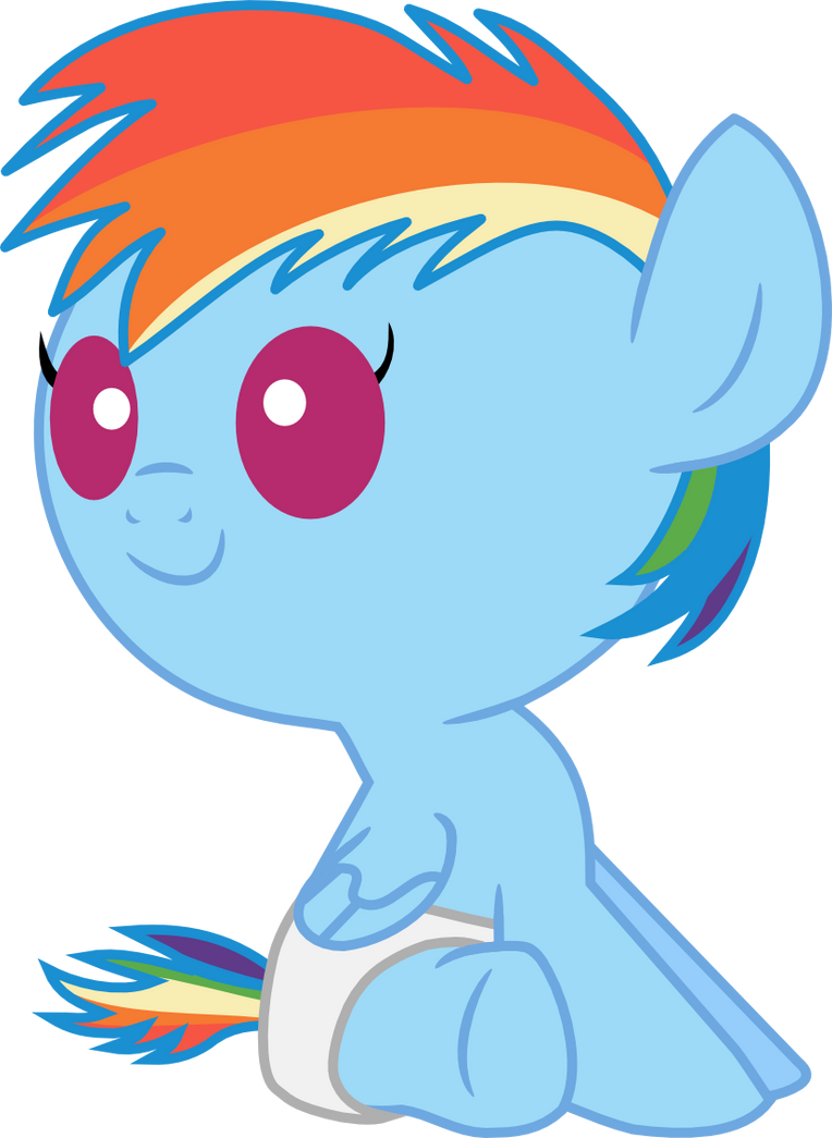 Baby Rainbow Dash Png Baby Rainbow Dash Sitting by