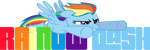 Rainbow Dash logo by BlueHedgedarkAttack