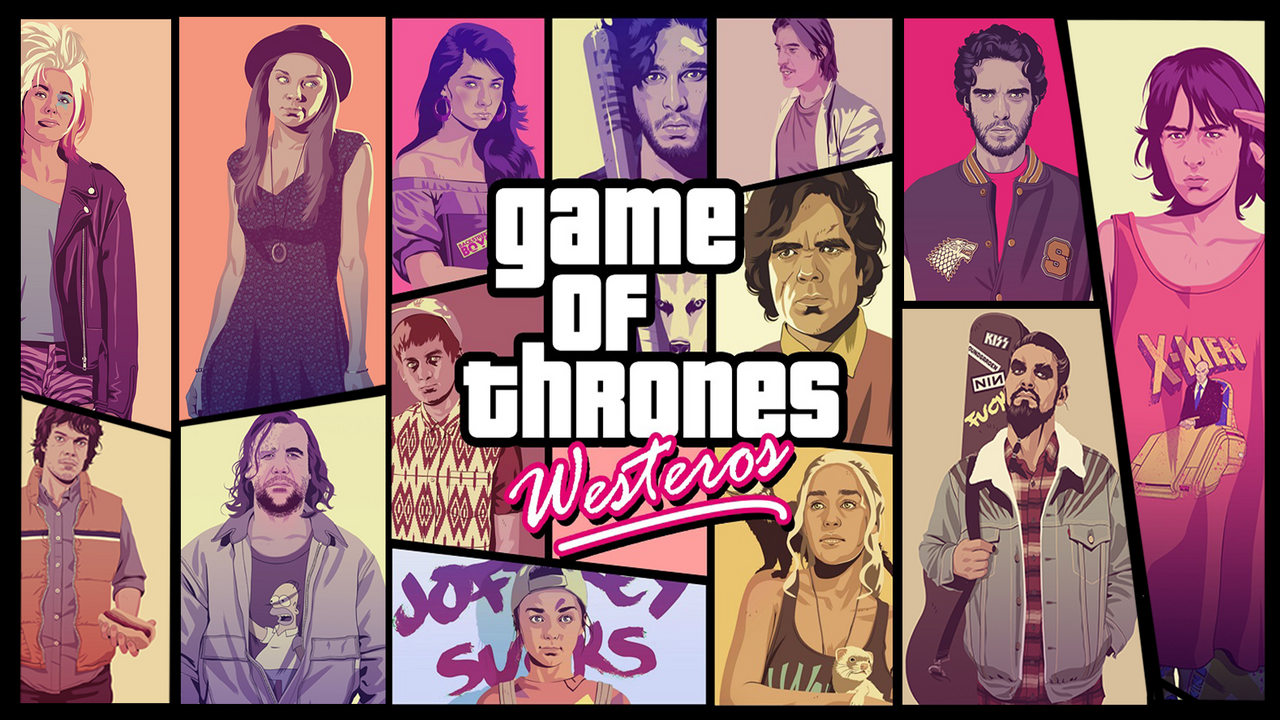 No Spoilers Awesome Gta Style Poster With The Game Of Thrones