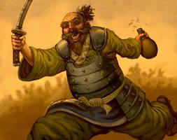 drunken samurai by b-nine