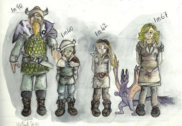 viking family coloured by DevilAntRat on DeviantArt