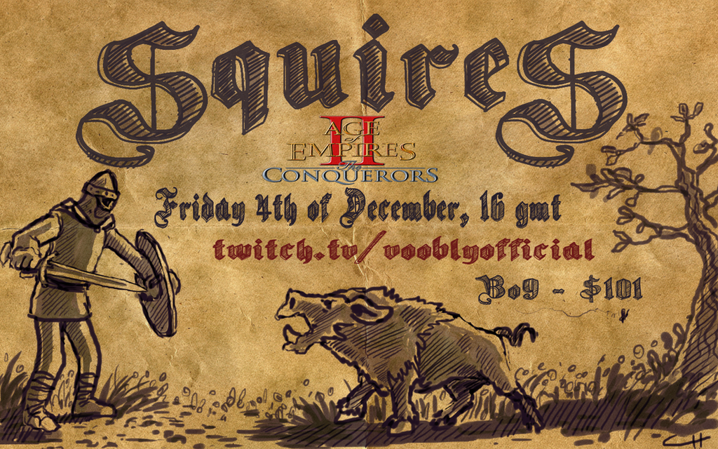 Squires event poster - Twitch - vooblyofficial by payclo3