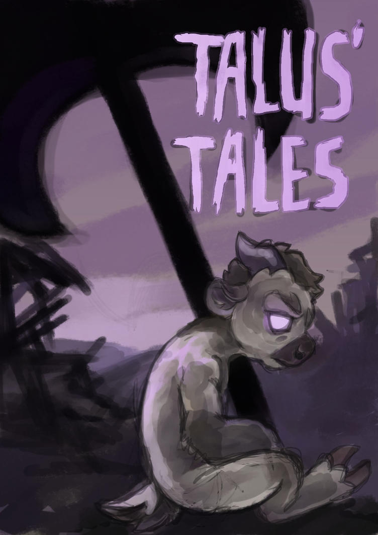 Talus'tales, a slightly damned comic short - cover by DevilAntRat