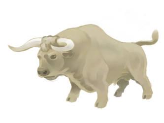Blond bull by DevilAntRat