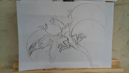 dragon slaying sketch by DevilAntRat