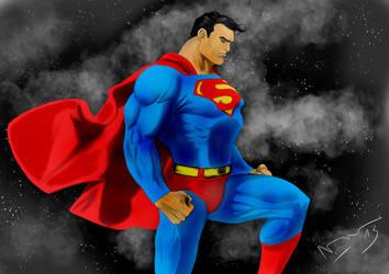 Superman procreate by Artnicow