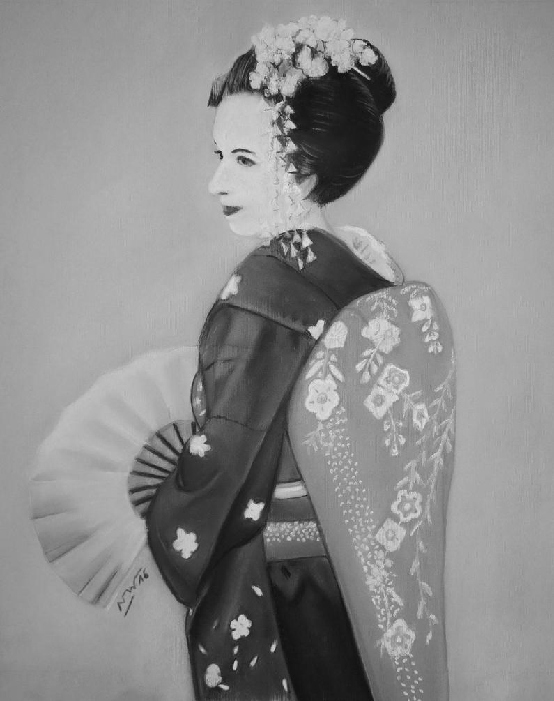 Geisha european - commission for her birthday by Artnicow