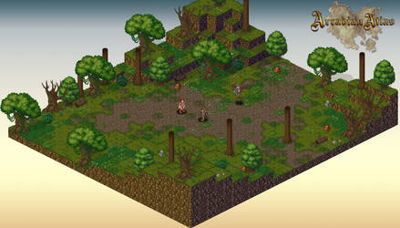 2D Isometric Forest Map